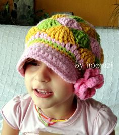 6507aa04a1b Newsboy Beanie Hat in Girly Design for Kids