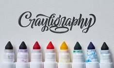 Yesterday experienced lettering artist Colin Tierney launched 'Crayligraphy', a place to learn 'Crazy Crayola Calligraphy'. Crayola Calligraphy, Calligraphy Tutorial, How To Write Calligraphy, Lettering Tutorial, Calligraphy Letters, Typography Letters, Modern Calligraphy, Calligraphy Handwriting, Typography Design