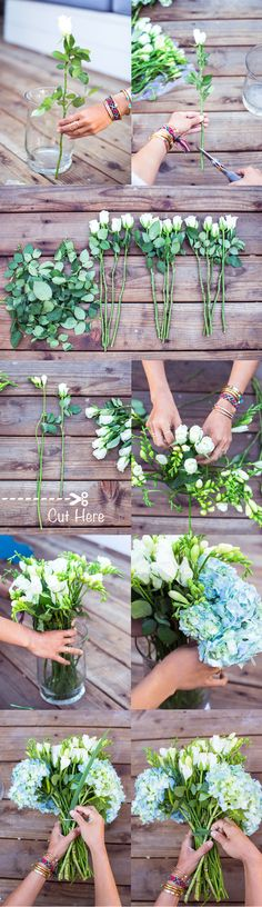 DIY para te ajudar na hora de montar um arranjo de flores <3 DIY to help you…