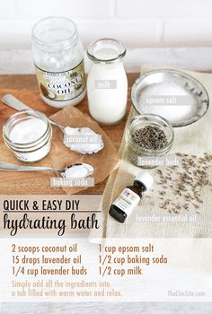 DIY: Lavender & Milk Bath Recipe!  Click the photo for the recipe and directions! Photo courtesy of TheChicSite.com!