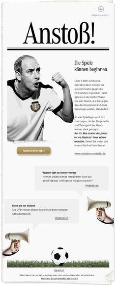 Newsletter Design der Woche - Mercedes Benz