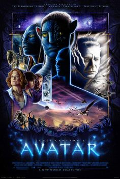 Josh Gilbert's Drew Stuzan-style Avatar fanposter