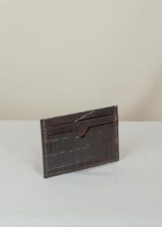 Sorént Oslo | Croc Cardholder Dark Brown | Women's Accessories Oslo, Italian Leather, Hand Stitching, Crocs, Women's Accessories, Dark Brown, Card Holder, Wallet, Rolodex
