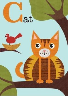 Letter C cat by JennSki on Etsy, $14.00
