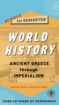 This World History Bundle is everything I teach the first semester; from Ancient Greece through Imperialism. You will get access to the Google Drive and Dropbox.