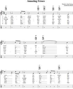 Amazing Grace Mandolin Tab Page 1. View the whole song at http://chordzone.com/music/mandolin/amazing-grace/