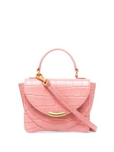 Shop online pink Wandler Luna Mini Arch tote as well as new season, new arrivals daily. Designer Totes, Designer Bags, Peep Toe Flats, Mini, Purses And Handbags, Crocodile, Pretty In Pink, Louis Vuitton Damier, Women Wear