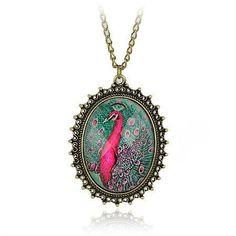 Vintage Peacock Jewelry | com : Buy Vintage Style Peacock Jewelry/Resin Peacock Pendant Necklace ...