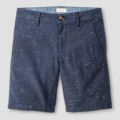 Boys' Flat Front Chino Shorts - Cat & Jack™ Textured Navy