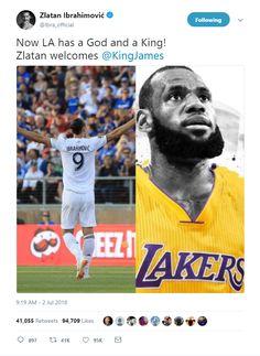 Zlatan Ibrahimović welcomed LeBron James to Los Angeles 818165e2d