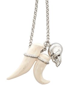 Alexander McQueen Ceramic Tusk & Skull Necklace
