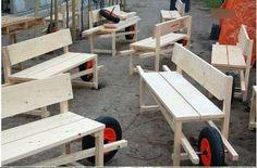 DIY wheelbarrow bench via the Rogier Martens design.