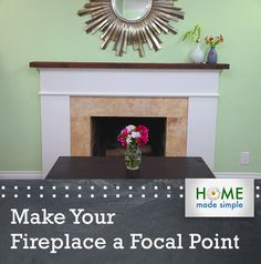 Diy faux stucco fireplace knock it off the live well network 4 easy ways to turn an outdated fireplace into an attention getting fireplace even if your fireplace isnt functional it can still be beautiful solutioingenieria Image collections