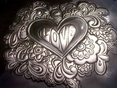 Pewter embossed jewelry box Made by Lee @ The Pewter Room