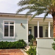 exterior color: Copen Blue-SW 0068 and Sherwin Williams white