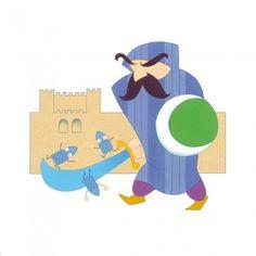 Alhambra, Granada, Ilustración infantil, Seisdedos