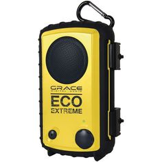 EcoExtreme iPhone/iPod Rugged Waterproof Case with Built-in Speaker (Yellow)