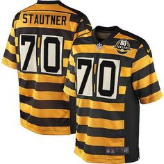 Ernie Stautner Men s Elite Gold Black 80th Anniversary Jersey  Nike NFL  Pittsburgh Steelers Alternate 4aebfa62d8