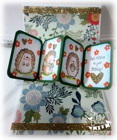 Caz Counsell using the Pop it Ups Twist Circle die set by Karen Burniston for Elizabeth Craft Designs.