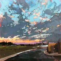 Christopher Long Gallery of Original Fine Art Abstract Landscape, Landscape Paintings, Abstract Art, Landscapes, Paintings I Love, Colorful Paintings, Modern Impressionism, Sky Painting, Aesthetic Painting