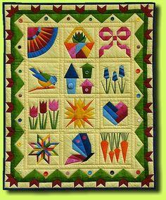 paper peiced sampler: spring awakening for inspiration, no patterns