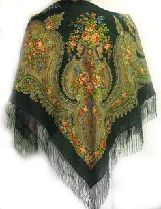 Pavloposadsky scarves. Павлопосадские платки.