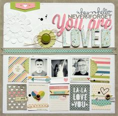 fun page featuring trendy frames | june 2014 for 12x12 inspiration #12x12  www.jillibeansoup.typepad.com