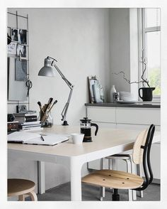 A familiar view in today's blogpost for @ikeasverige Livet hemma. My studio with the Bekant conference table. #creativeworkspace #ikea…