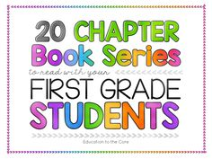 Finding the right chapter book series today, especially for young first graders, can be challenging! There are so many more choices out there which can make it tough to determine which series are really worthy of sharing with your students. That's why I have explored and researched all the appropriate chapter book series for your first graders and come up with a comprehensive list below.