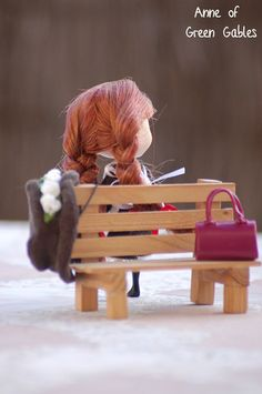 """I love this photo of the Pullip """"Anne of Green Gables"""" doll.  Simply darling."""