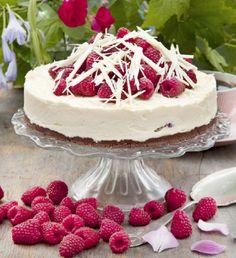 Moussetårta med hallon | Allas Recept