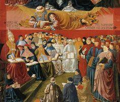 ❤ - BENOZZO GOZZOLI (1421 - 1497) - Triumph of St. Thomas Aquinas (detail). 1471. Tempera on panel. 230 x 102 cm. Musee du Louvre, Paris.