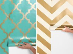 20 Beautiful and Innovative Wallpaper Designs via Brit + Co.