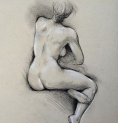 Women ORIGINAL nude drawing Illustration