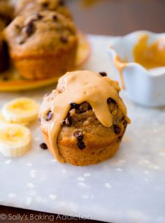 Peanut butter, banana, honey, whole wheat, and Greek yogurt make these healthy muffins one of my favorites.