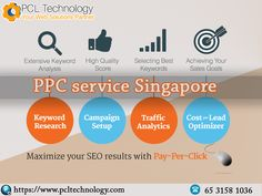Maximize your online presence creating instant impact coupled with larger exposure, through optimizing your PPC campaign via using PPC advertising services by PCL Technology in Singapore. Call us at: +65 3158 1036 #PPCServicesSingapore
