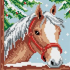 This post was discovered by Lin. Discover (and save!) your own Posts on Unirazi. Cross Stitch Horse, Cross Stitch Animals, Cross Stitch Flowers, Cross Stitch Designs, Cross Stitch Patterns, Cross Stitching, Cross Stitch Embroidery, Crochet Horse, Horse Pattern