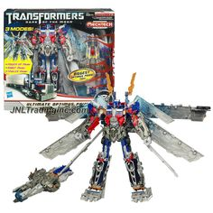Product Features - Includes: OPTIMUS PRIME with 3 Modes (Power-Up Mode, Robot Mode and Trailer Mode)and Ultimax Super Cannon with Blasting Battle Sound and Glowing Light - Power-Up Optimus Prime figur
