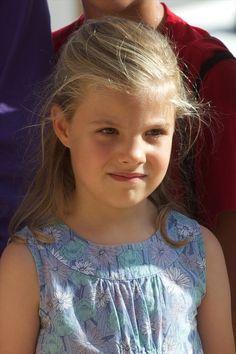 Princess Sofia of Spain at the Calanova Sailing School on August 02, 2013 in Palma de Mallorca, Mallorca, Spain.