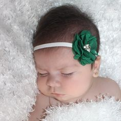 Little Flower Headband, Cute Baby Headband, Green Headband, Newborn Headband, Headbands for Girls, Baby Girl Headband, Baby Headbands Newborn Headbands, Baby Girl Headbands, Christmas Headbands, Cute Babies, Flower, Girls, Green, Ganchillo, Little Girls