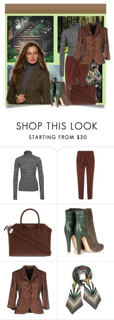 """In the Woods"" by danewhite ❤ liked on Polyvore featuring NLY Trend, Dorothy Perkins, Givenchy, Malone Souliers, Tagliatore and Tory Burch"