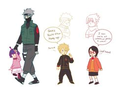 """""""Stroll"""" [by CountryShiba on deviantART] - (Personally, I think the funniest part of the pic is that it's the Uchiha wearing orange.)"""