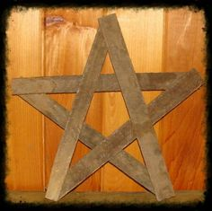 """Rustic Star made from tobacco lath. Approximately 23"""" tall and 24"""" across. Great for adding floral wreaths , berries, tin star, etc.."""