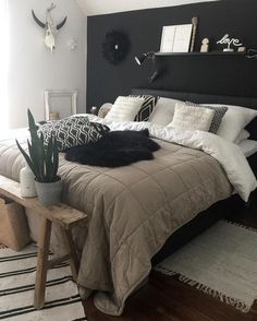 [New] The Best Home Decor (with Pictures) These are the 10 best home decor today. According to home decor experts, the 10 all-time best home decor. Bedroom Bed Design, Room Ideas Bedroom, Home Decor Bedroom, Aesthetic Bedroom, Dream Rooms, My New Room, House Rooms, Room Inspiration, Interior Design