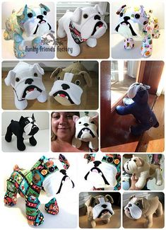 See me sew my Bulldog Stuffed Animal Sewing Pattern! | Funky Friends Factory