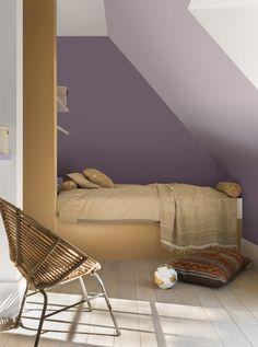 Slaapkamer - chambre à coucher Levis kleuren: Wijngaard - Damastzijde - Origami - Safarinacht Couleurs Levis: Coeur de vigne - Soie de Damas - Origami - Nuit safari