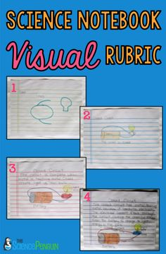 Science Notebook Visual Rubric-- Help your students self-assess the quality of their work
