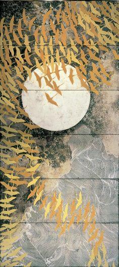 Jammu: taishou-kun: Kayama Matazo 加山 又造 (1927-2004) A...six panel screen