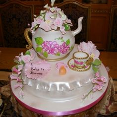 A Baby's Brewing Teapot Cake -