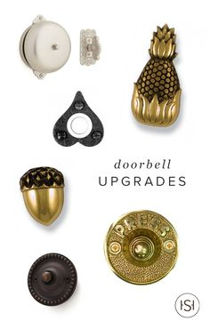 Chances are your doorbell needs an upgrade. Trust us, you will be happy you checked out this chic collection of decorative doorbells. There's a little something for everyone!